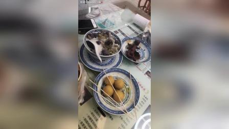双皮奶芋圆咖喱鱼蛋鸡爪面包蛋挞烤冷面