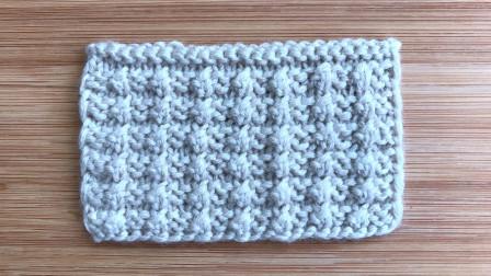 立体整齐的小结粒花样,织法简单,给儿童织背心很帅气花样图片