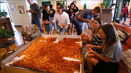 """土豪老外定制世界上最大的""""披萨""""!实验一次究竟能喂饱多少人!网友:我能加入吗"""