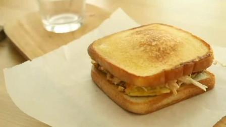 鸡蛋胡萝卜煎面包片