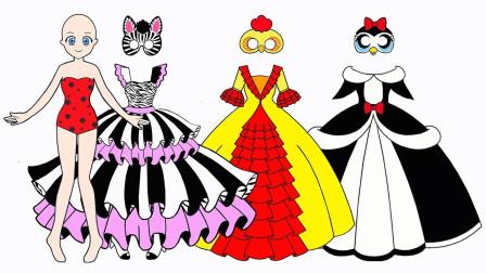 小马宝莉化妆舞会剪纸创意:很会玩,紫悦扮成猫咪了,谁扮的公鸡