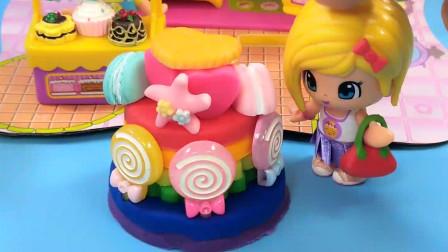 比基尼娃娃的创意棒棒糖蛋糕