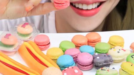 行旅天下 小姐姐吃超流行甜点:迷你汉堡、热狗软糖和马卡龙