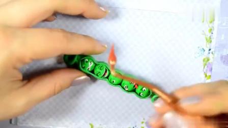 DIY纯手工制作可爱的豌豆表情包钥匙扣,送你的搞笑礼物