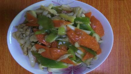 海鲜菇鸡肉炒杂蔬——炒鸡肉