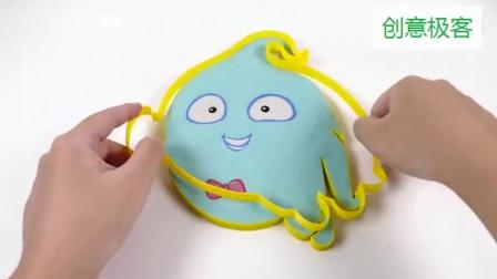 创意极客,太空沙DIY创意卡通蛋糕造型,用手捏起来太可惜了!