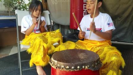 11歲哥哥和妹妹打舞獅鼓表演,簡直帥爆了,網友:前途無量