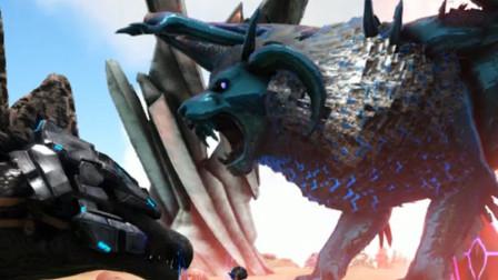 方舟生存进化:帕格纳西亚,八爪鱼帮狮身蝎尾兽挠痒痒。
