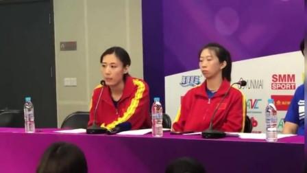 天津女排亚俱杯新闻发布会 王媛媛表示伤病在身