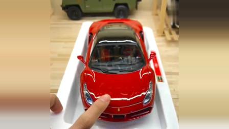 法拉利汽车模型,做工非常精致的内部设计给人带来新感受
