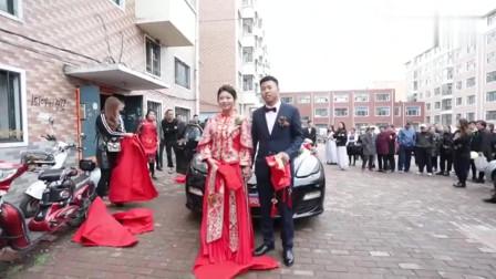 河南婚礼,5个伴娘漂亮还大长腿,新娘不怕被比下去吗