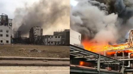 内蒙古卓资县一化工企业发生爆燃 致35伤