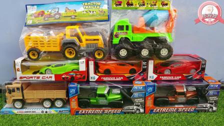 张猫猫与汽车玩具王国 好多超酷的玩具车组合,大家一起来玩吧
