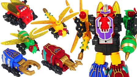 变形金刚创意昆虫变身合体组合套装恐龙世界玩具