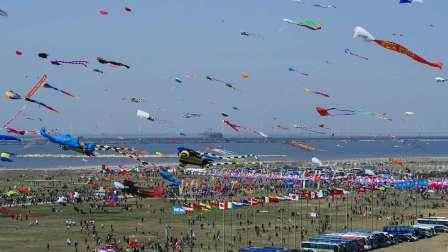航拍潍坊第三十六届国际风筝节