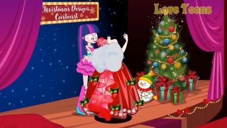 圣诞节婚纱设计比赛紫悦巧妙化解了碧琪派的破坏!游戏
