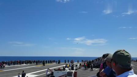 侧飞驶过的飞机,引来千人围观,场面确实震撼!
