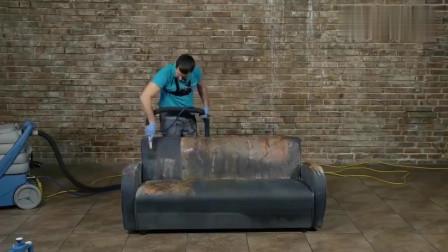 老旧沙发被牛人翻新,看到结果后,感觉卖家具的都要倒闭了!