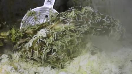 带你来到印度,大叔将羊全是涂满绿色,整只放在锅里闷着吃!
