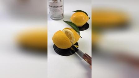 柠檬水果造型慕斯……