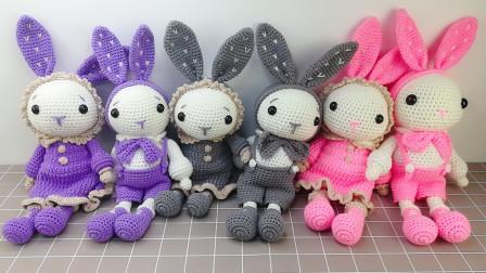 织一片慢生活–晚安兔男兔手工玩偶编织教程编织方法教程