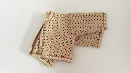 第二集前片编织手工钩针宝宝毛线开衫钩织教程如何织