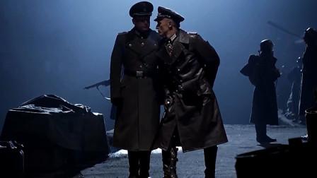 经典的二战战争大片,看到己方的联络员被后,英雄连队手刃营地