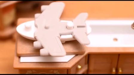 超萌定格动画:飞机三明治