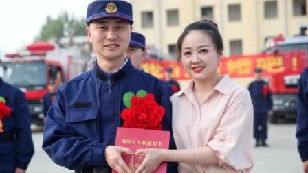河南:洛阳小伙考上消防员 结婚当日入营报到训练灭火
