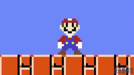 超级玛丽:活久见,马里奥变身炮弹直奔关底,然后掉坑里了!