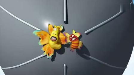 爆笑虫子小黄小红看着这险恶的世界,小黄小红在飞机外好危险