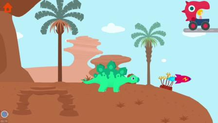 一飞冲天的小剑龙,快到停不下来!挖掘侏罗纪游戏