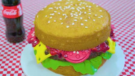 汉堡的最新吃法:牛人把它做成了美味蛋糕,猜猜一个能卖多少钱