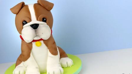 这么逼真的小狗子,原来是美女用翻糖蛋糕做的,厉害!