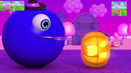 吃豆人的世界也有万圣节吗?益智趣味识颜色!吃豆人游戏