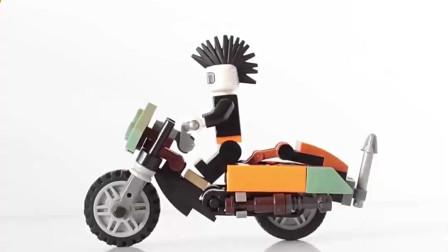 迷你摩托车模型的组装方法,孩子们都喜欢!
