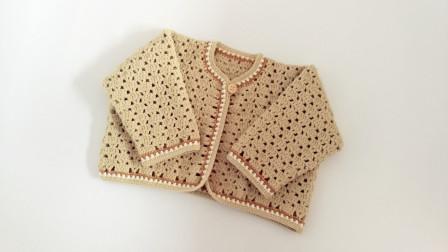 第四集织片缝合及花边编织手工钩针编织宝宝罩衫外套钩织教程编织花样图