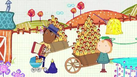 佩格和小猫:阿雷厉害啊,用音乐控制小鸡,小鸡们都上了车