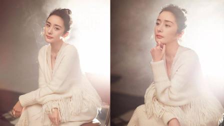 杨幂温柔似水,穿着纯白针织衫完全遮不住她的女人味,超美!