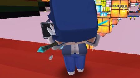 迷你世界:表哥彻底投降了,小短腿哆嗦脚也滑