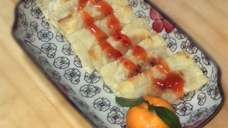 用1根香蕉5毛钱的馄饨皮做营养早餐饼, 外酥内甜, 专治孩子挑食!