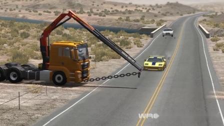 Beamng模拟卡车施工事故