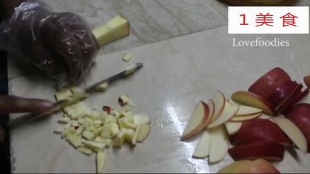 1美食,水果蛋糕:印度老师傅是如何切苹果的,这刀法真专业!