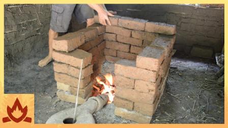 【疯狂原始人】自己动手,烧砖盖房子