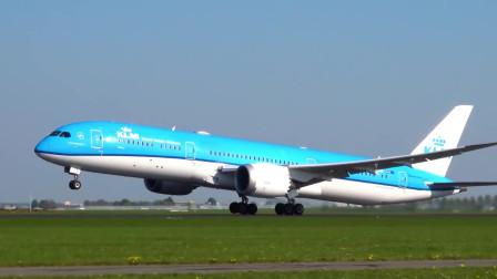 荷兰皇家航空:波音787-9梦想客机起飞!