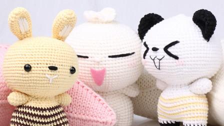 毛儿手作-包子家族系列玩偶新手视频教程一手工编织款式
