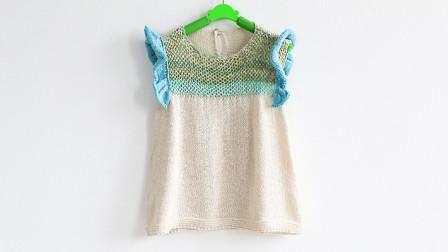 毛儿手作-木耳边裙子扁带线宝宝裙子新手视频教程上花样编织图解