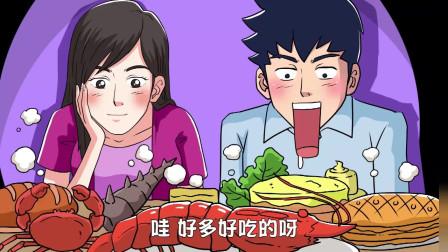 小伙带女朋友却吃自助餐,没吃完还差点被打,看一遍笑一遍
