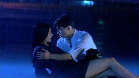 92年《妖兽都市》背景音乐《幻之谜空》,黎明和李嘉欣在雨中分别