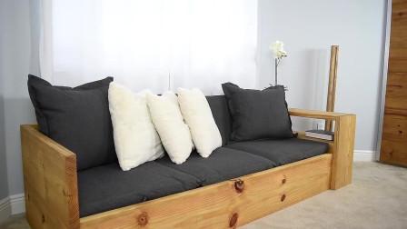 DIY沙发转换单人,双人床的制作过程